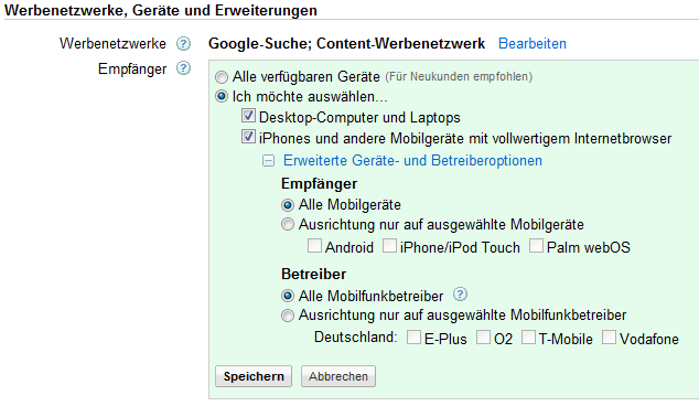 google-adwords-empfaenger-optionen
