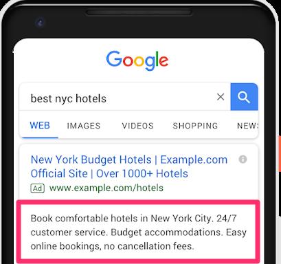 Google Textanzeigen Update Textzeile