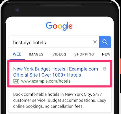 Google Textanzeigen Update Titel